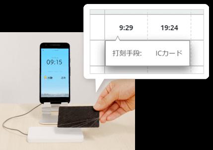 ICカード スマートフォン打刻機(Android スマートフォンアプリ)