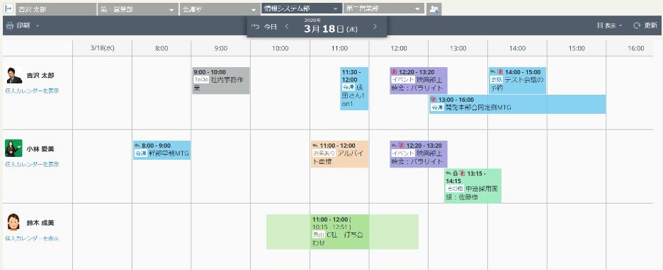 rakumo カレンダー(日表示)