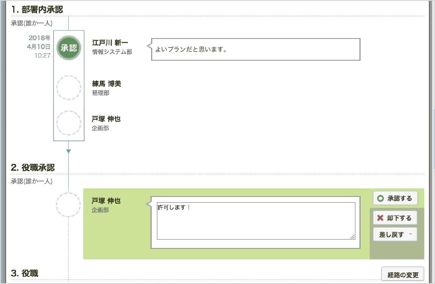 「rakumo ワークフロー」は社内コミュニケーションを活性化するシステム設計です。
